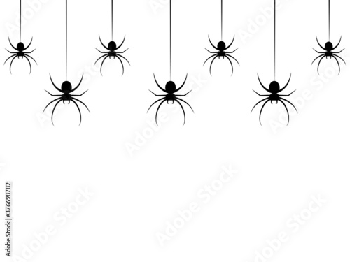 hanging spiders for decoration and covering on the transparent background Wallpaper Mural