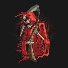 Grim Reaper With Scyth Illustr...