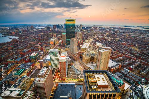 Fotografie, Obraz Boston, Massachusetts, USA Downtown Skyline