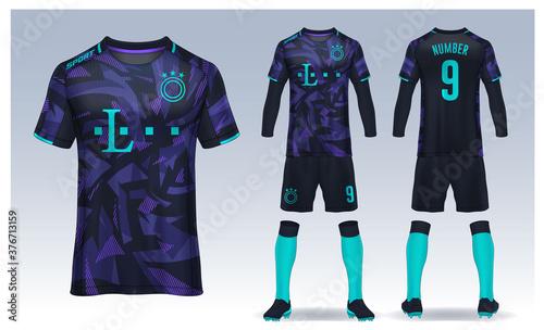 Fotografia t-shirt sport design template, Soccer jersey mockup for football club