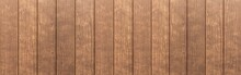 Panorama Of Wood Plank Brown T...