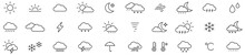 Weather Icon Set Isolated On W...