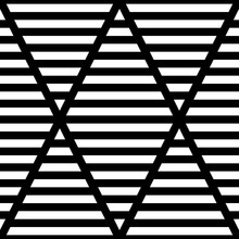 Strokes Wallpaper. Seamless Surface Pattern Design With Linear Ornament. Broken Lines Motif. Black Zigzag Lines On Striped Background. Digital Paper With Dashed Stripes For Textile Print. Vector Art.