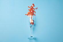 Champagne Glass With Confetti ...