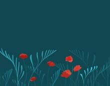 Background With Poppy Flowers