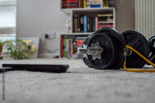 home gym equipment with a remote