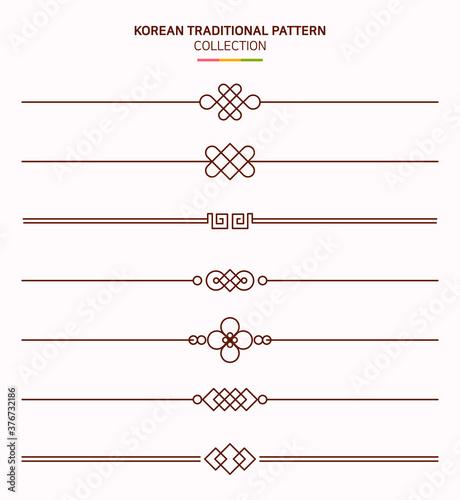 한국 전통 문양 프레임. Fototapet