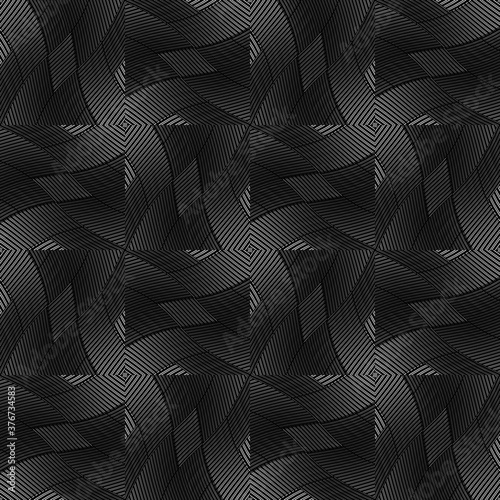 Tapeta czarna  seamless-pattern-with-twist-oblique-black-bands