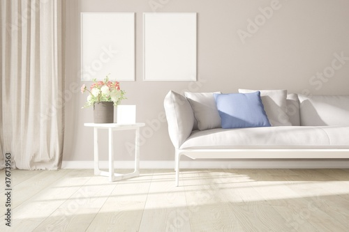 Fototapeta Modern interior design. 3D illustration obraz na płótnie