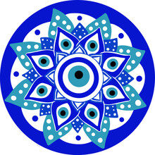 Mandala Greek Evil Eye Vector ...