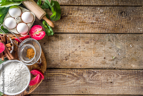 Fotografija Apple pie autumn baking background