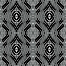 Seamless Pattern With Twist Ob...