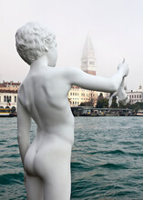 Boy With Frog Statue, Venice, ...