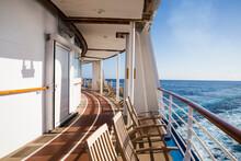 Deck Of Cruise Ship At Sea, Fa...