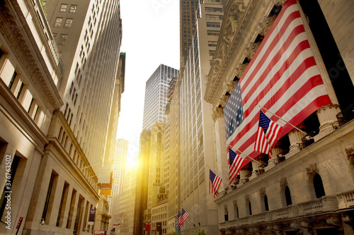 New York stock exchange, wall street, New York, USA - 376763502