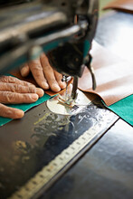 Female Hands And Sewing Machin...