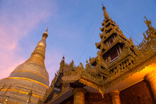 Shwedagon Pagoda, Yangon, Myan...