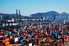 View Of Container Port, Hong K...
