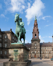 View Of Christiansborg Palace, Copenhagen, Zealand, Denmark
