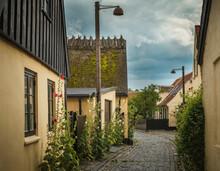 Old Houses On Cobbled Street, Dragor, Zealand, Denmark