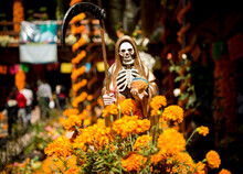 La Santa Muerte Altar With The...