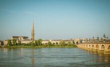 View Of City And River Garonne, Bordeaux, Aquitaine, France