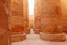 Pillars At Karnak Temple Compl...