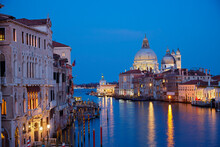 Grand Canal At Night, Venice, ...