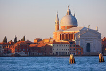 View Of Santa Maria Della Salute At Sunrise, Venice, Veneto, Italy