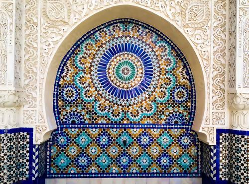 Fotografija moroccan swirl tracing mosaic decoration