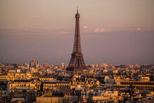 Elevated Cityscape And Eiffel ...