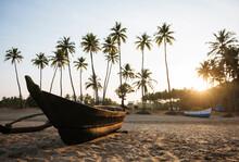 Moored Boat, Agonda Beach At S...