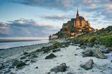 Mont Saint-Michel, Normandy, F...