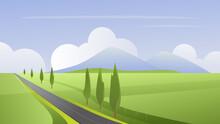 Summer Simple Rural Landscape ...