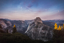 Mountains And Celestial Stars ...