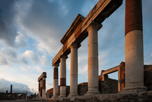 Remains Of Columns At Dusk, Po...