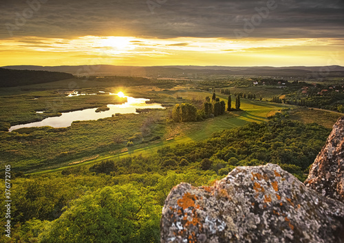 Canvas Print Inner lake of Tihany, Hungary in summer