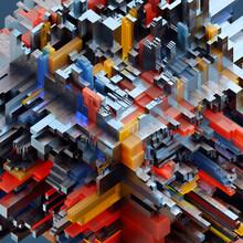 Colorful Interlocking Rectangular Blocks