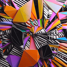 Colorful Paper Folded In A Variety Of Geometric Shapes