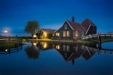 Exterior View Of Houses In Village Of Zaanse Schans