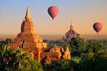 Hot Air Balloons Flying Above ...