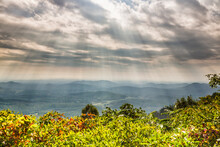 View Of Air Bellows Overlook Against Cloudy Sky
