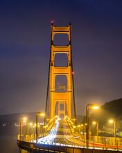 View Of Golden Gate Bridge At Night