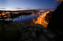 Scenic View Of Prague City At Night