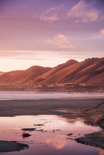 Scenic View Of Pismo Beach During Sunset