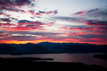 Scenic View Of Puget Sound During Sunset