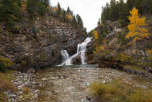 View Of Cameron Falls In Waterton Lakes National Park