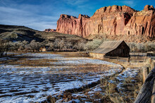 Scenic View Of Capitol Reef National Park