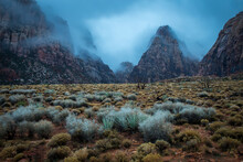 Scenic View Of Mountains Surrounded By Fog