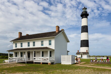 Bodie Island Lighthouse And Visitor's Center In North Carolina
